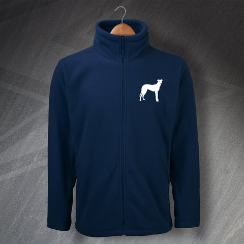 Lurcher Embroidered Fleece