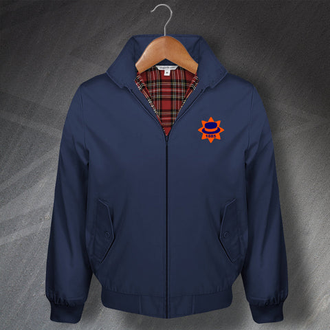 Retro Luton 1885 Classic Harrington Jacket with Embroidered Badge