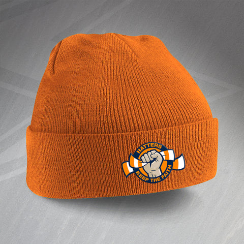 Luton Football Beanie Hat Embroidered Hatters Keep The Faith