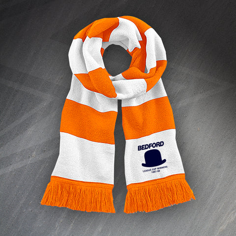 Luton Football Bar Scarf Embroidered League Cup Winners 1988