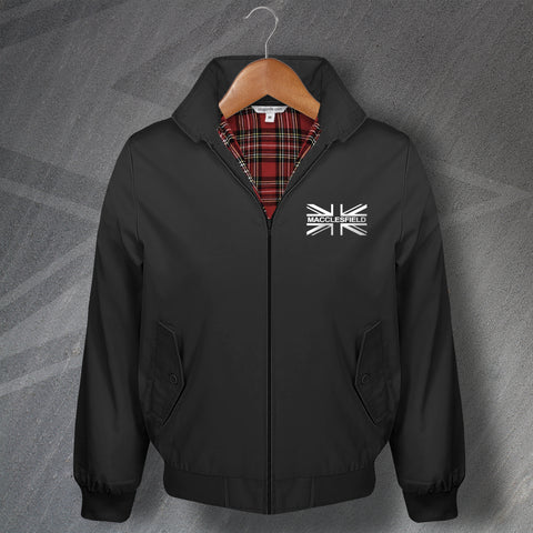 Macclesfield Harrington Jacket Embroidered Union Jack