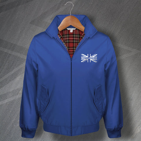 Macclesfield Football Harrington Jacket Embroidered Union Jack