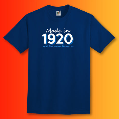 Made In 1920 and The Legend Lives On Unisex T-Shirt