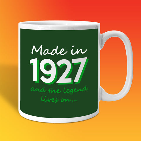 Made In 1927 and The Legend Lives On Bottle Green