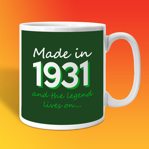 Made In 1931 and The Legend Lives On Bottle Green