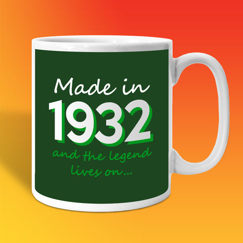 Made In 1932 and The Legend Lives On Bottle Green