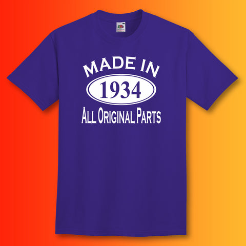 Made In 1934 T-Shirt Purple