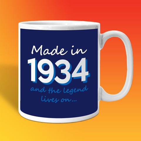 Made In 1934 and The Legend Lives On Mug