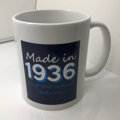 Made In 1936 and The Legend Lives On Mug