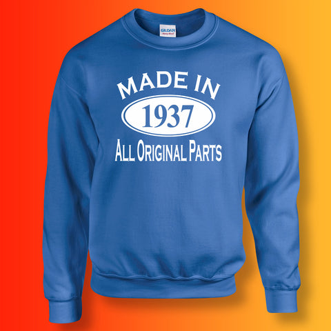 Made In 1937 All Original Parts Sweater Royal Blue