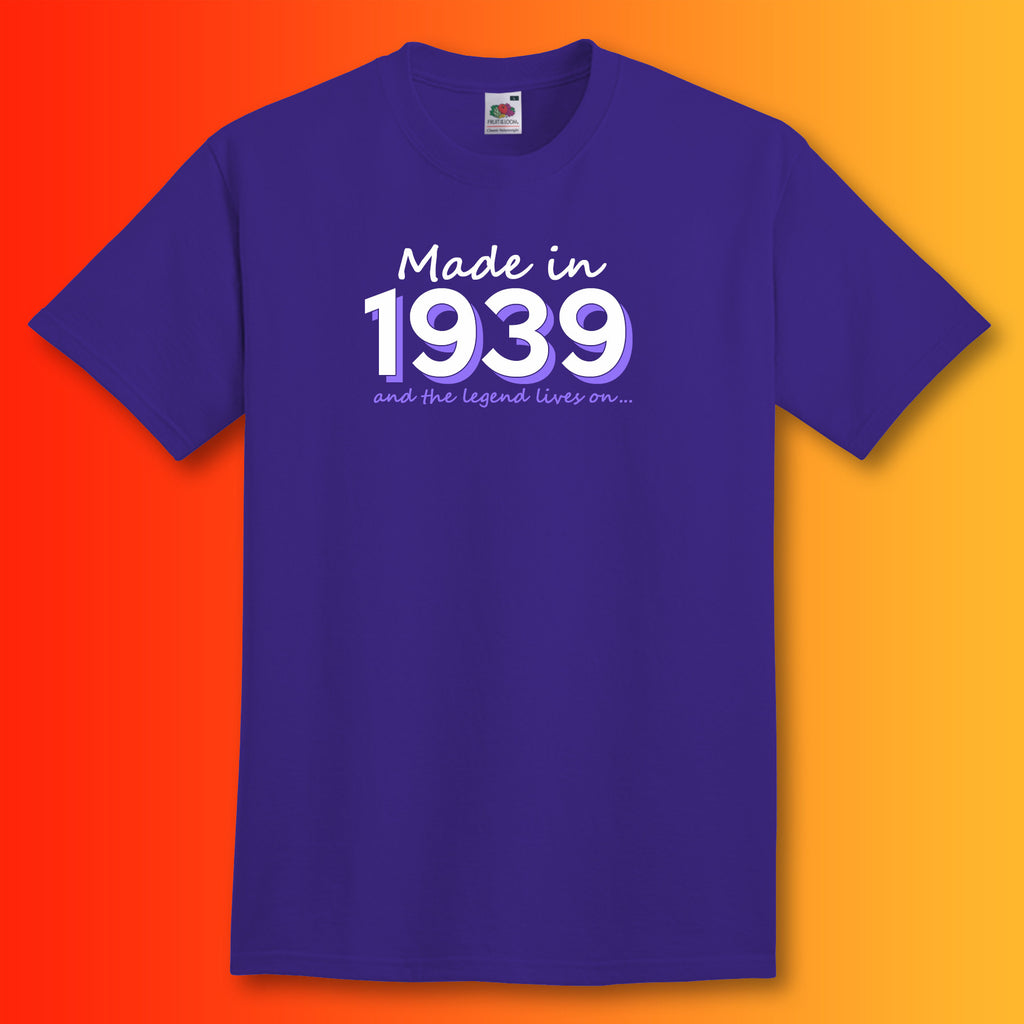 Made In 1939 And The Legend Lives On T Shirt Sloganite Com