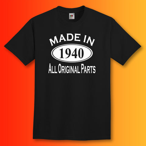 Made In 1940 T-Shirt Black
