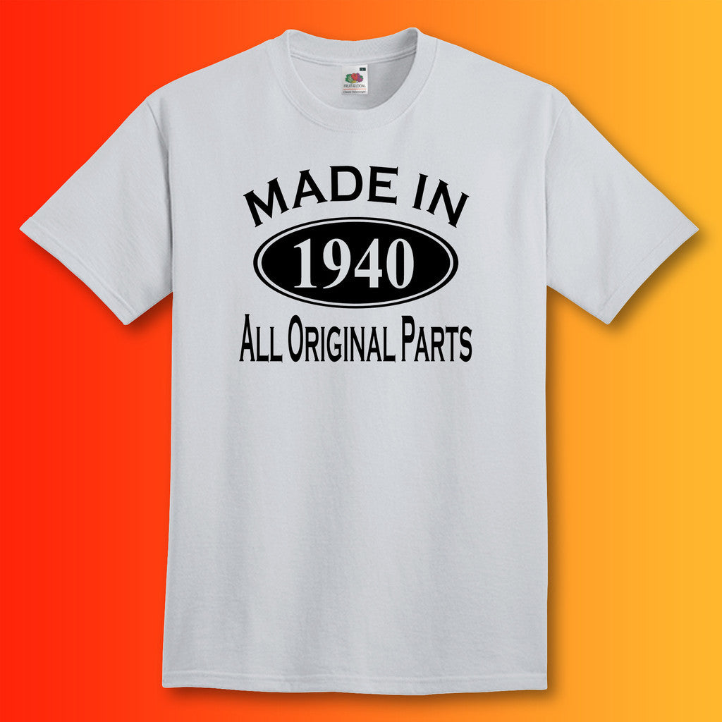 Made In 1940 T-Shirt Heather Grey