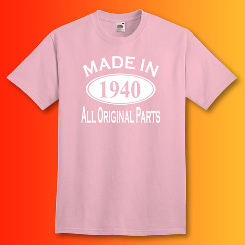 Made In 1940 T-Shirt Light Pink