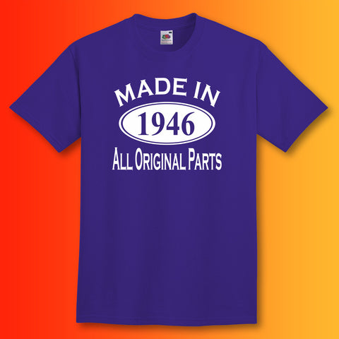 Made In 1946 T-Shirt Purple