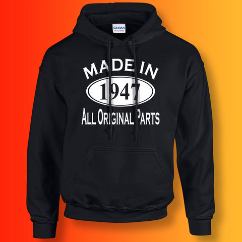 Made In 1947 Hoodie Black