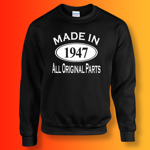 Made In 1947 All Original Parts Sweater Black