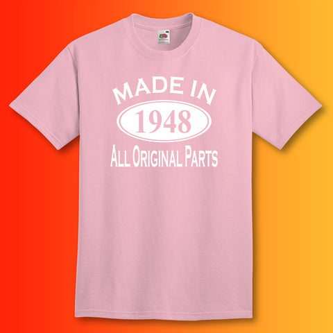 Made In 1948 T-Shirt Light Pink