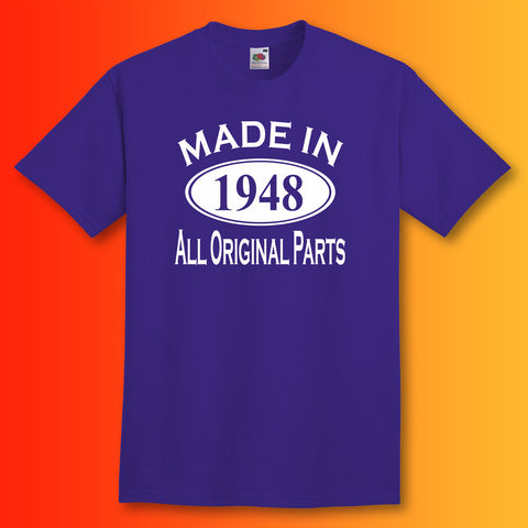 Made In 1948 T-Shirt Purple