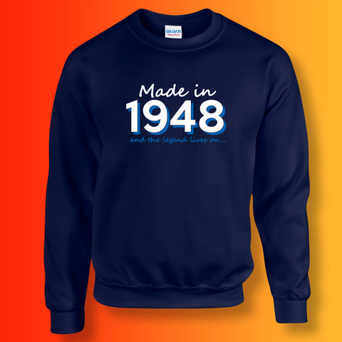 Made In 1948 and The Legend Lives On Unisex Sweater