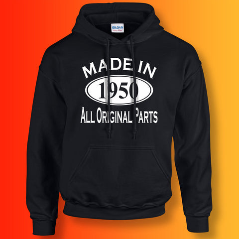 Made In 1950 Hoodie Black
