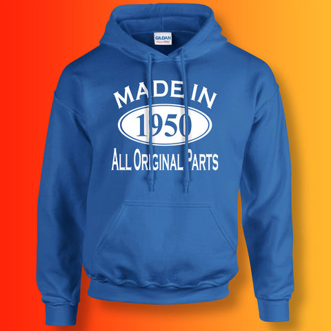 Made In 1950 Hoodie Royal Blue