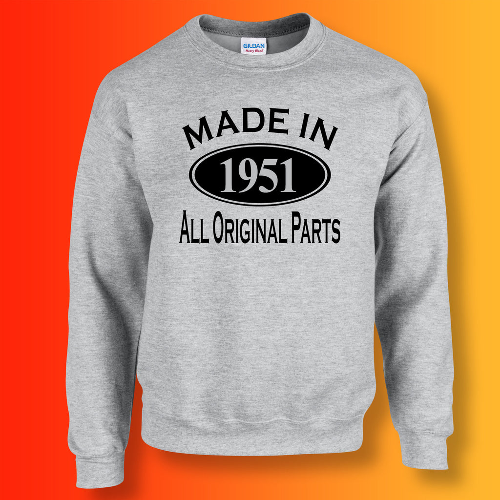 Made In 1951 All Original Parts Sweater Heather Grey