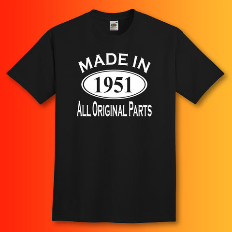 Made In 1951 T-Shirt Black