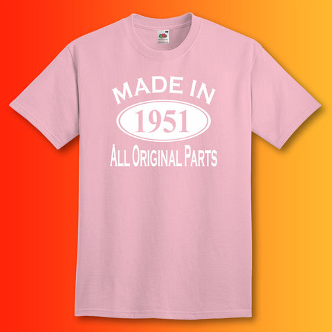 Made In 1951 T-Shirt Light Pink