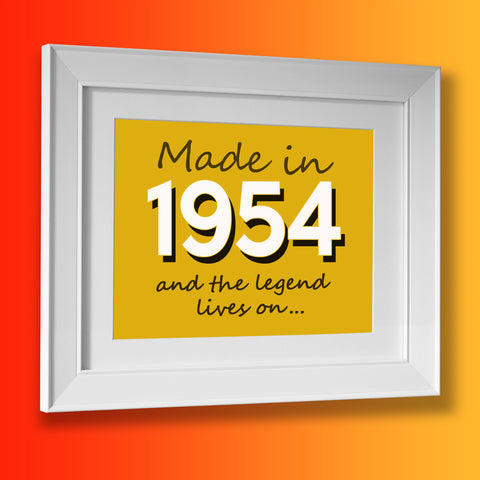 Made In 1954 and The Legend Lives On Framed Print Sunflower