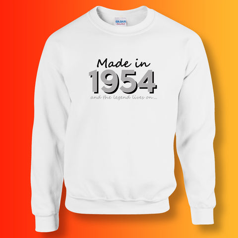 Made In 1954 and The Legend Lives On Sweater White
