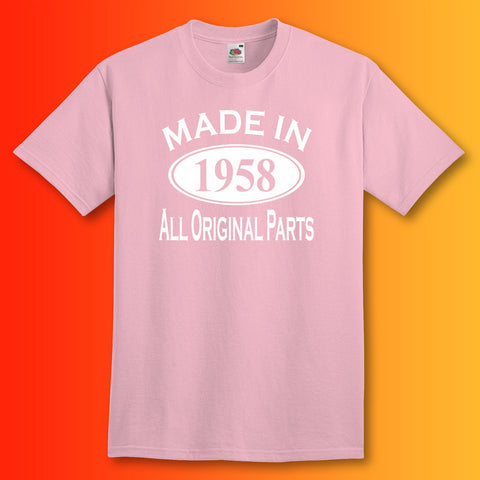 Made In 1958 T-Shirt Light Pink
