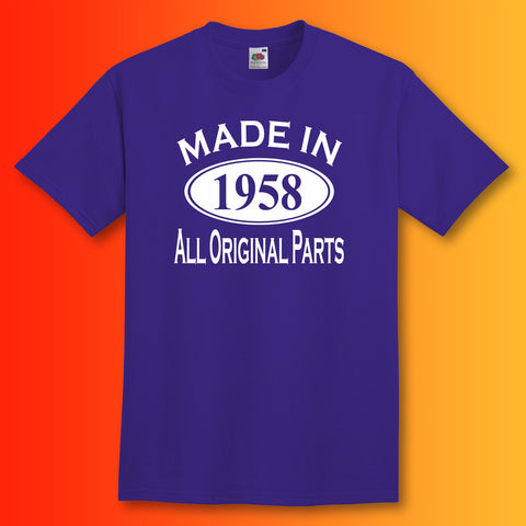 Made In 1958 T-Shirt Purple