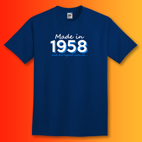 Made In 1958 and The Legend Lives On Unisex T-Shirt