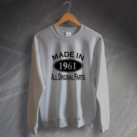 1961 Sweatshirt Made in 1961 All Original Parts