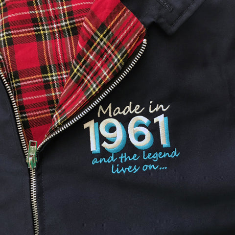 Personalised Harrington Jacket with Any Year