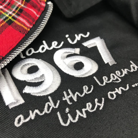 Made in 1967 and The Legend Lives On Embroidered Harrington Jacket