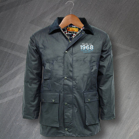 1968 Wax Jacket Embroidered Padded Made in 1968 and The Legend Lives On
