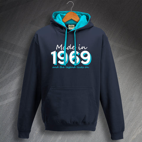1969 Hoodie Contrast Made in 1969 and The Legend Lives On