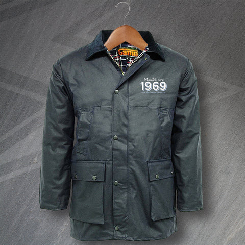 1969 Wax Jacket Embroidered Padded Made in 1969 and The Legend Lives On