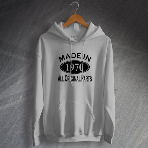 Made In 1970 All Original Parts Unisex Hoodie