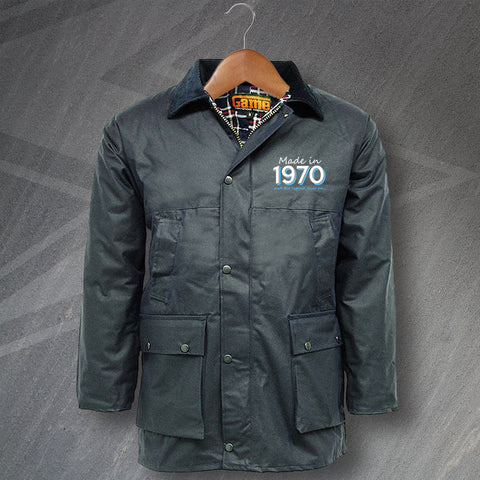 1970 Wax Jacket Embroidered Padded Made in 1970 and The Legend Lives On