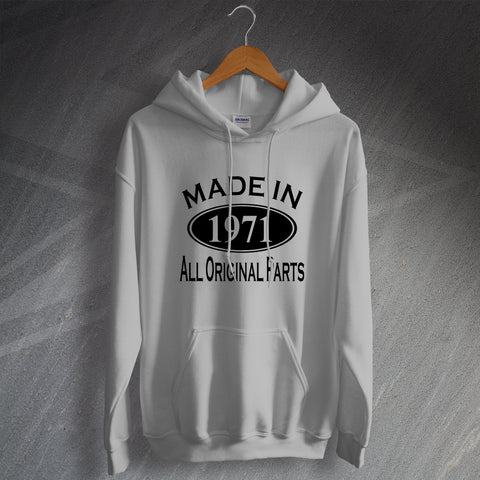 Made In 1971 All Original Parts Unisex Hoodie