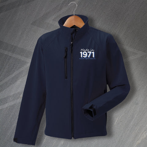 1971 Jacket Embroidered Softshell Made in 1971 and The Legend Lives On