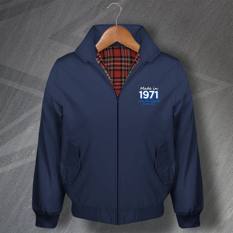 1971 Harrington Jacket Embroidered Made in 1971 and The Legend Lives On