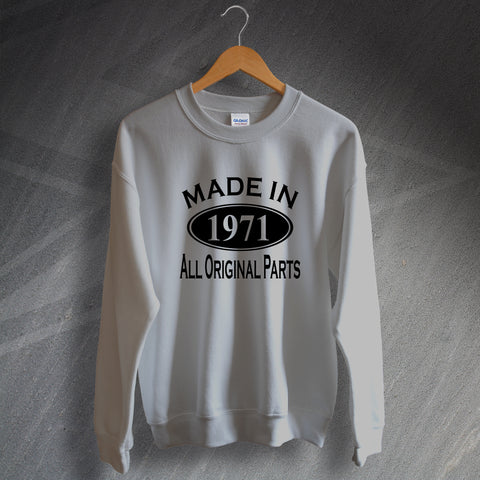 1971 Sweatshirt Made in 1971 All Original Parts