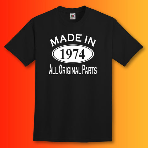 Made In 1974 T-Shirt Black