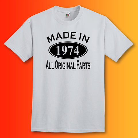 Made In 1974 T-Shirt Heather Grey