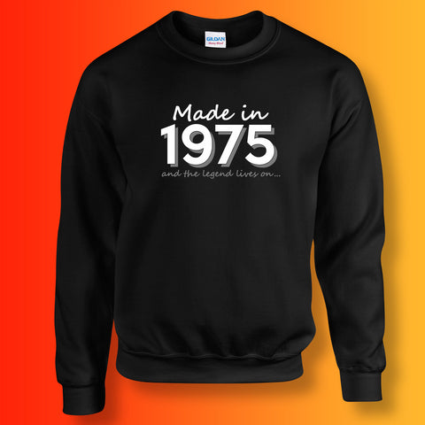 Made In 1975 and The Legend Lives On Sweater Black