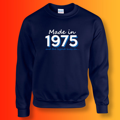 Made In 1975 and The Legend Lives On Sweater Navy